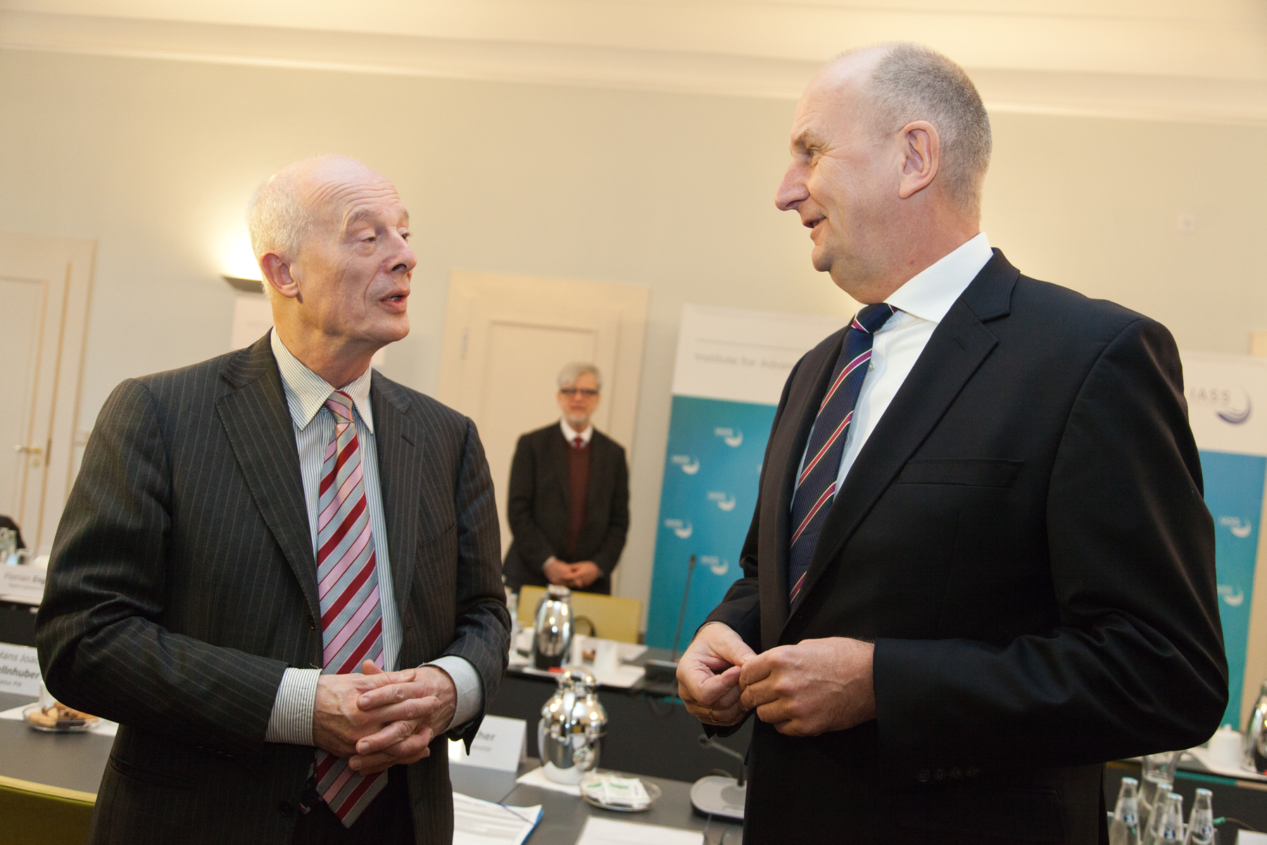 Hans Joachim Schellnhuber (PIK) and Governor Dietmar Woidke in discussion