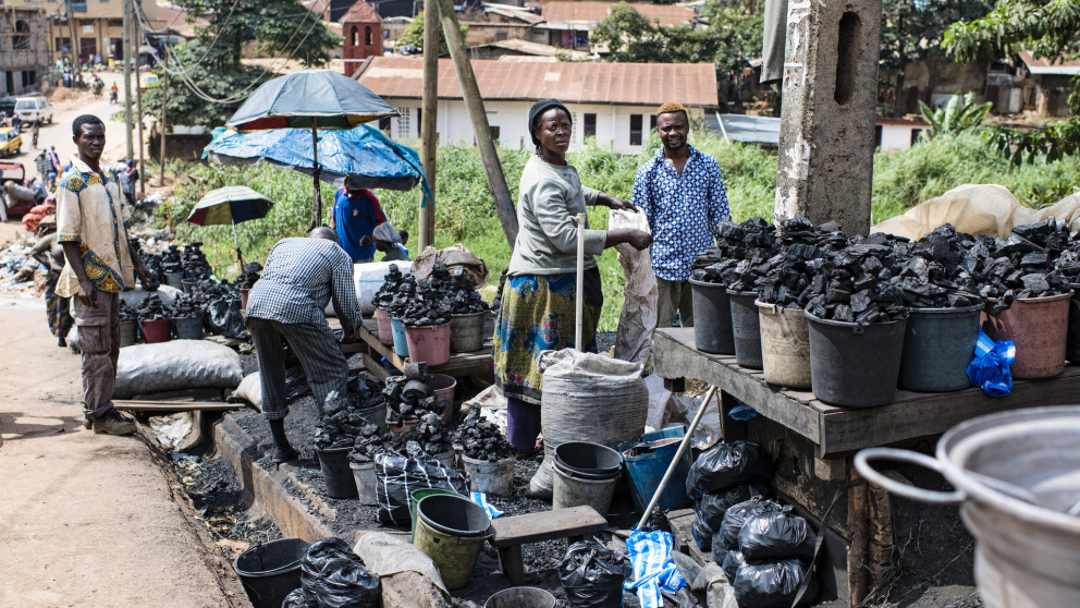 Much of the coal sold by these traders at a market in Yaoundé, the capital of Cameroon, will be used in cookstoves. Many developing countries lack adequate access to technologies that play a vital role in the energy transition.