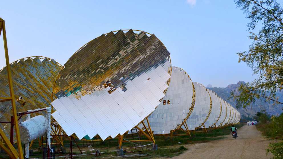 India's solar capacity has boomed, unlike many of the least developed countries.