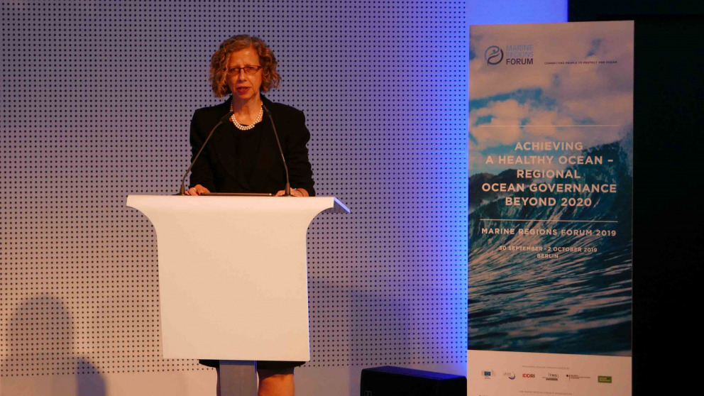 Inger Andersen, Executive Director of the United Nations Environment Programme UNEP, addresses the conference.
