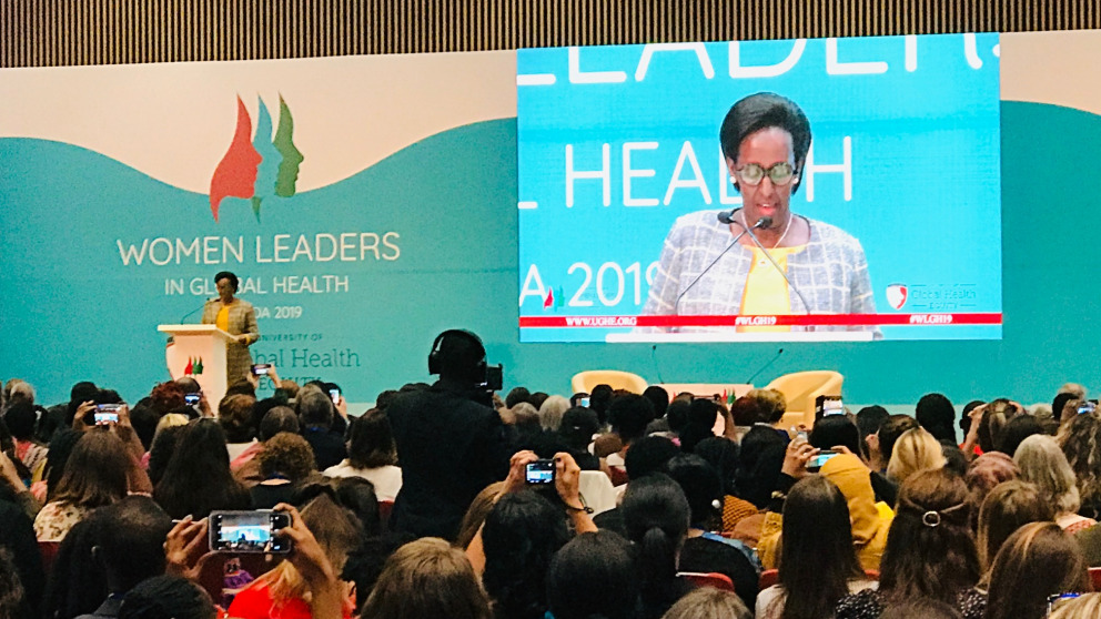 Jeannette Kagame, First Lady of Rwanda, at the opening of the WLGH19