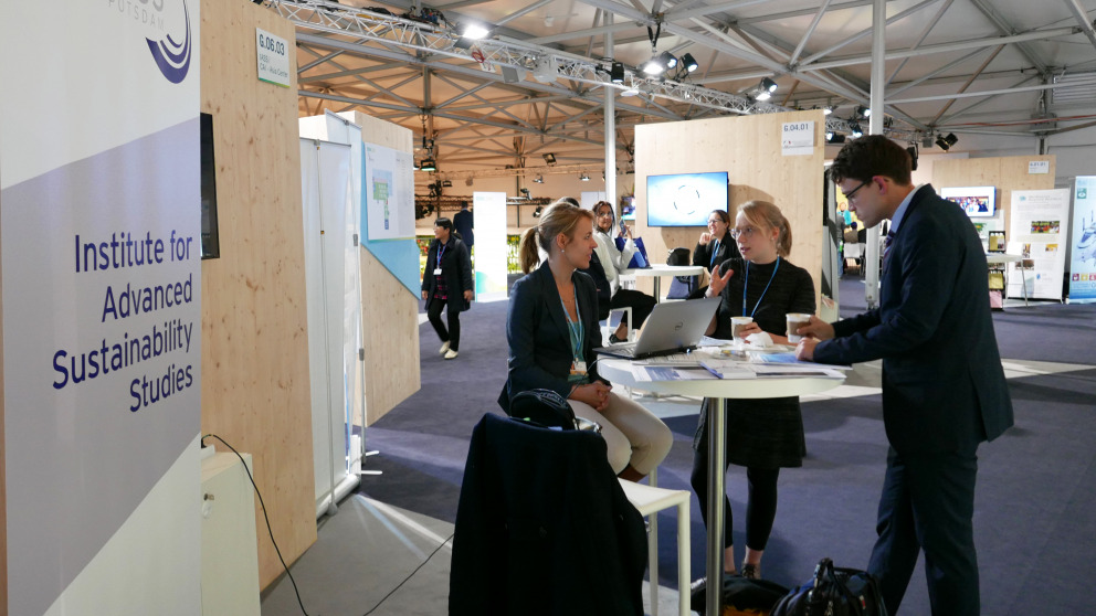 The IASS at the COP23 in Bonn in November 2017. The institute will also inform about its work at a booth in Katowice.
