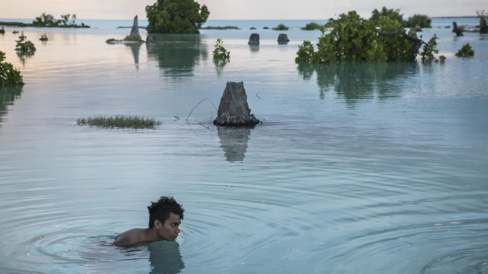 Images speak —they can tell us, for example, what their creators saw. This image was taken by a photographer on the island nation of Kiribati. It is in the eye of the beholder that images develop their full meaning.