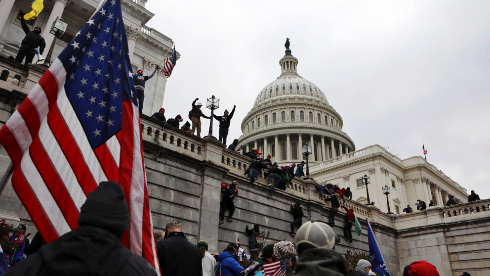 Washington 7 January 2021: Trump supporters storm the Capitol.