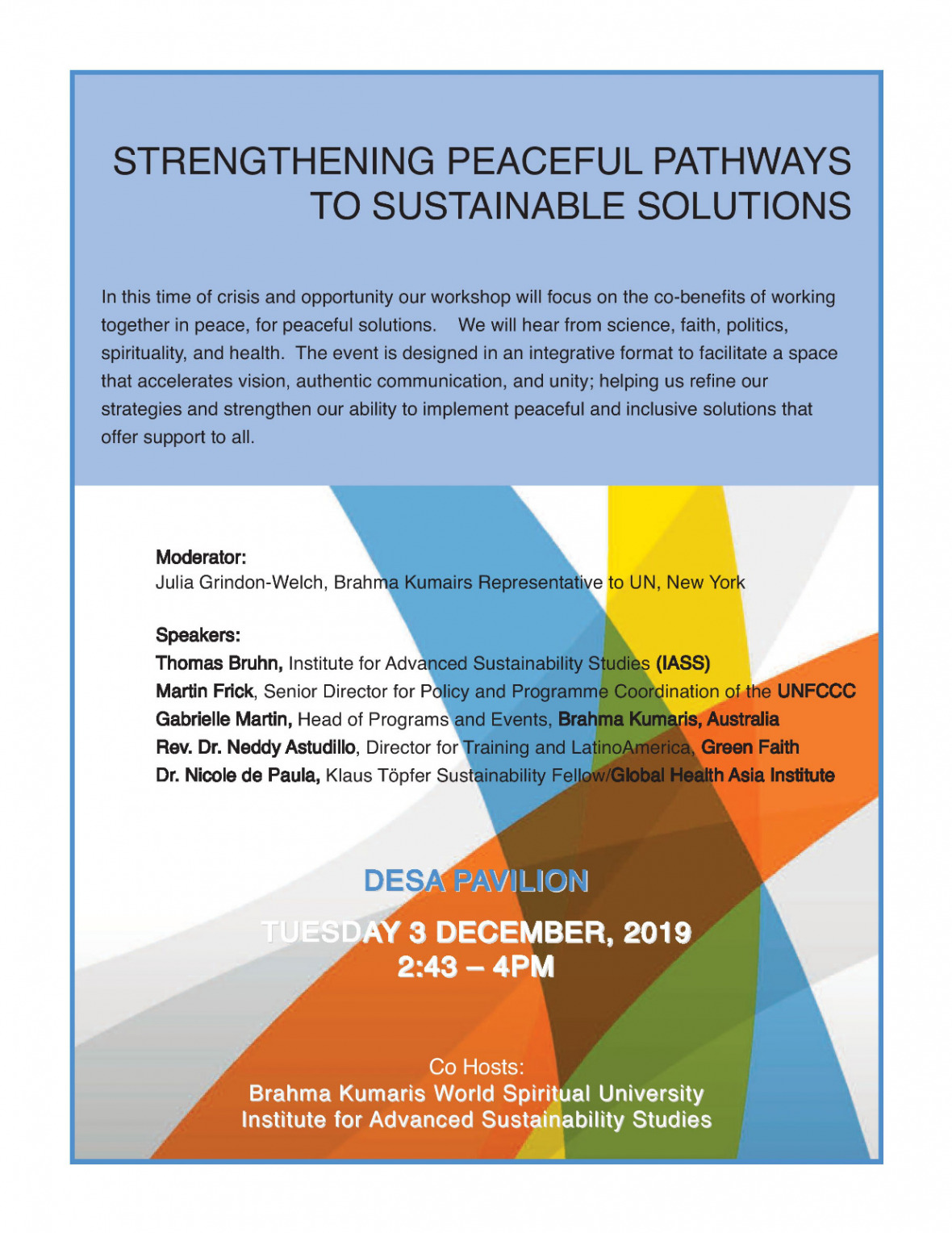 Strengthening peacefull pathways to sustainable solutions