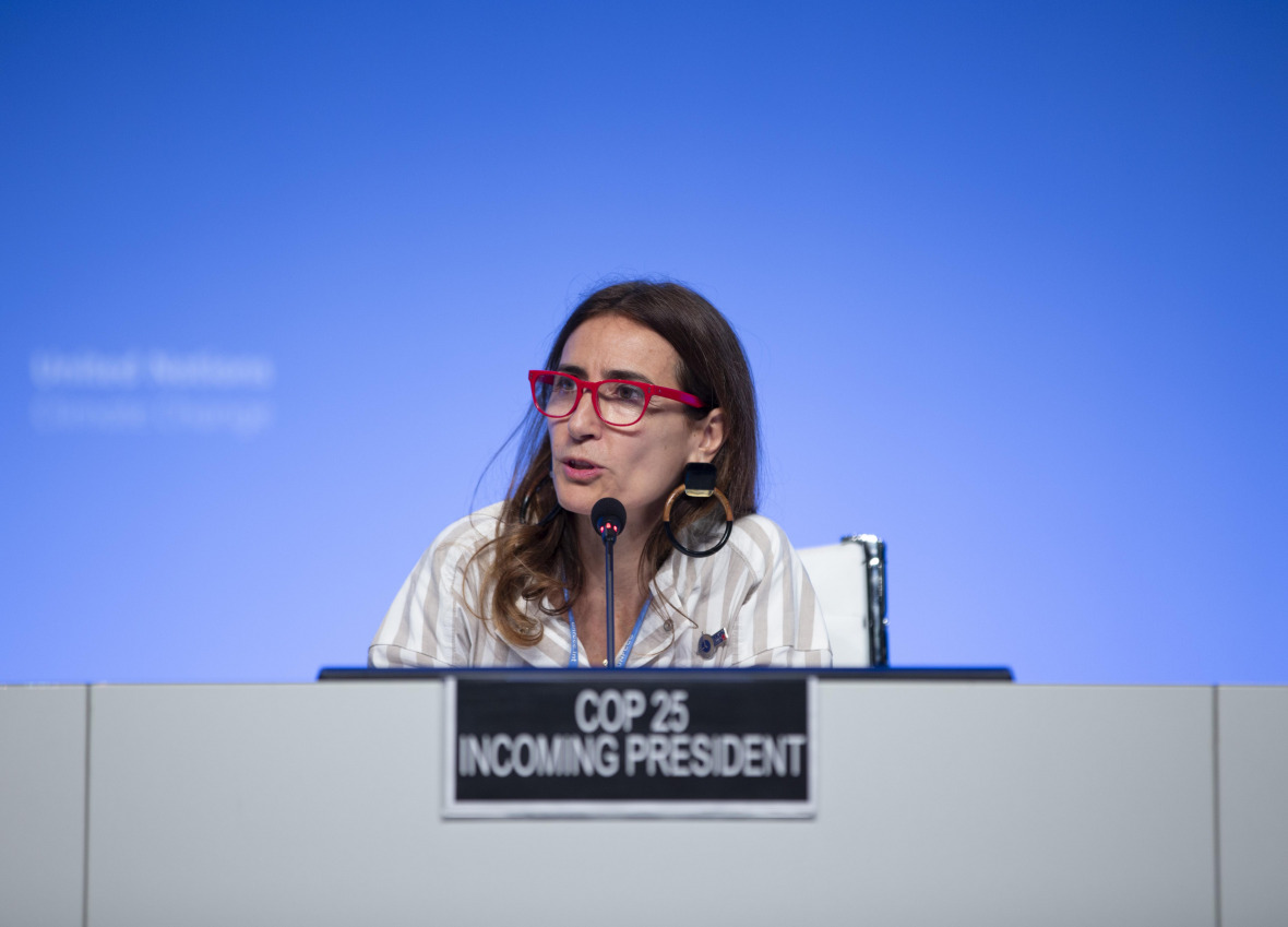 The incoming president of COP25, Carolina Schmidt of Chile, presented her vision for a successful climate summit at the intersessional in Bonn, with raising climate ambition as a top priority.