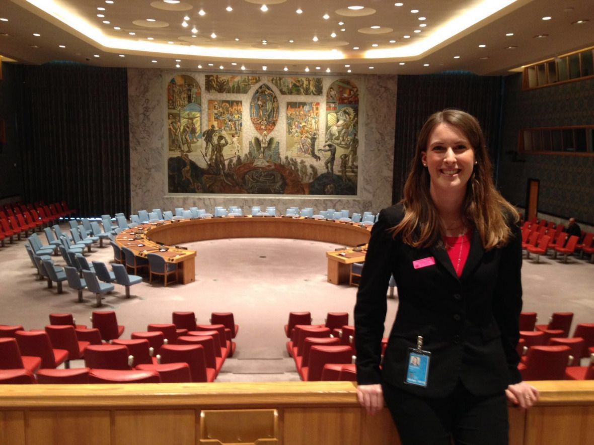A look inside the United Nations Security Council Chamber, which was recently restored. © Carole Durussel