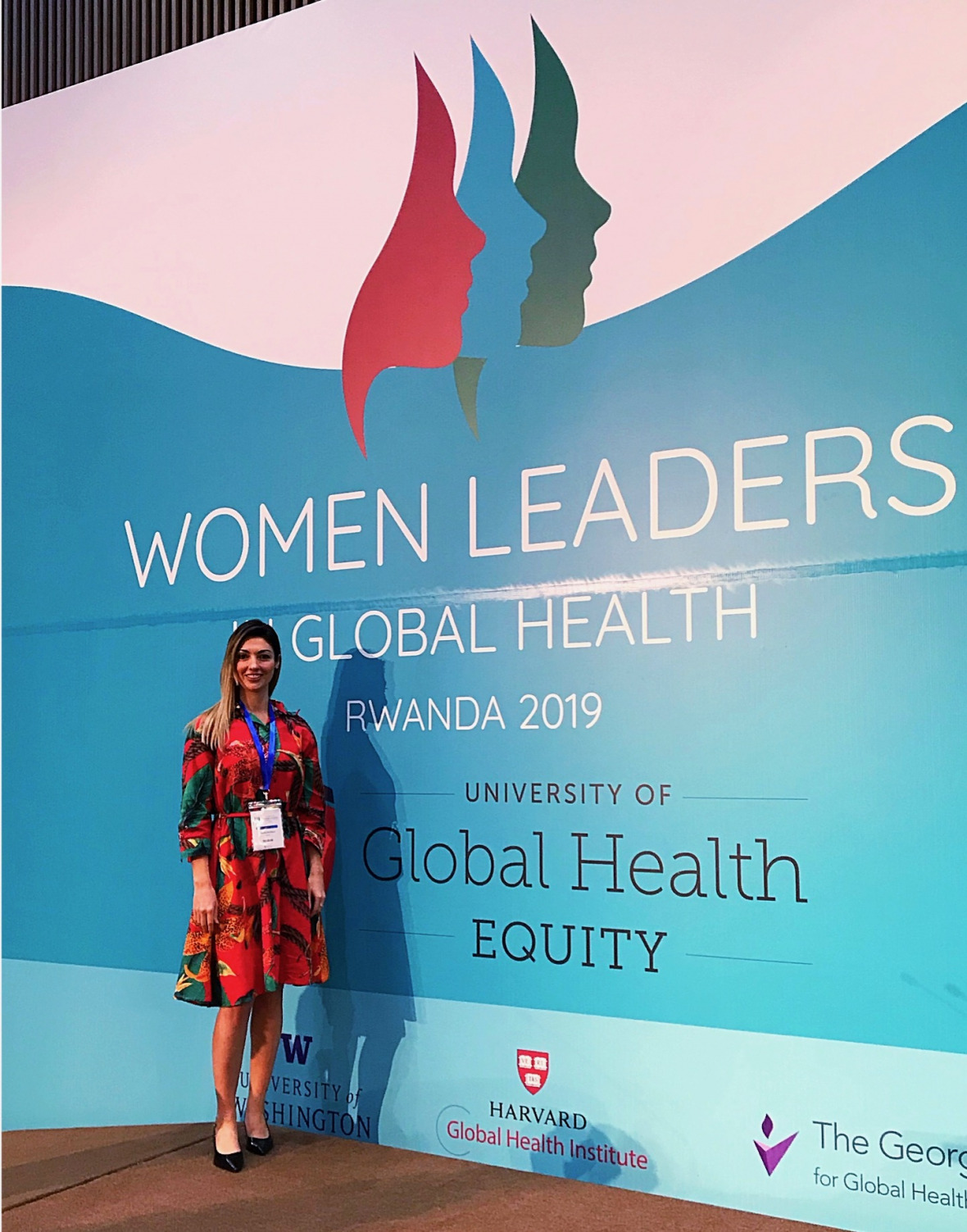 Nicole de Paula at the Women Leaders in Global Health Conference in Kigali
