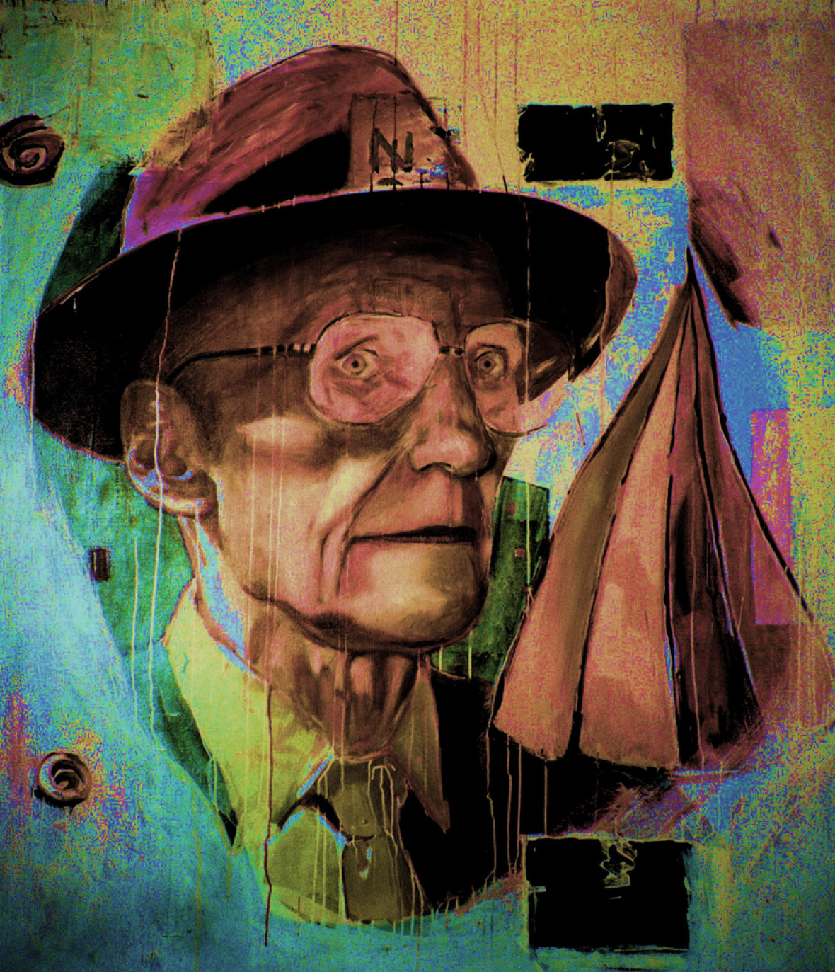 Christiaan Tonnis: William S. Burroughs 3 / Oil on Canvas / 61 x 72.8 inches / 1999 Print