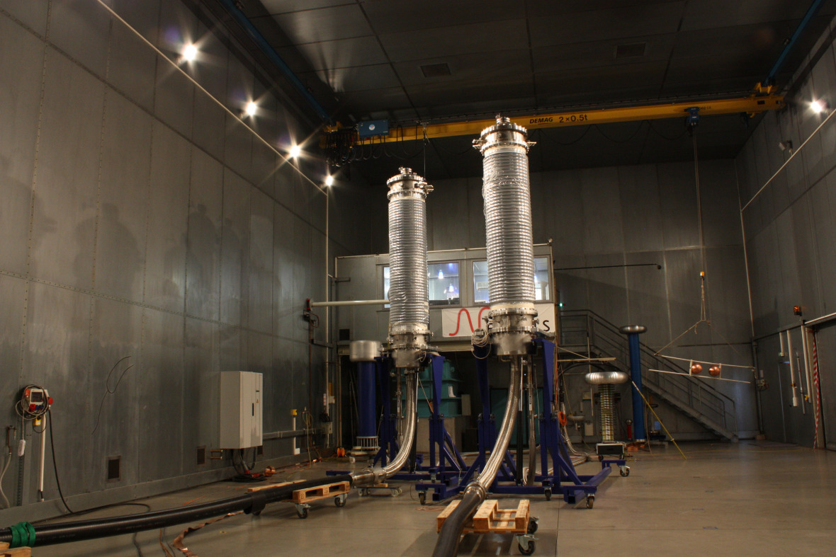 The 30-meter high-voltage testing loop was completed this month by the cable manufacturer Nexans.