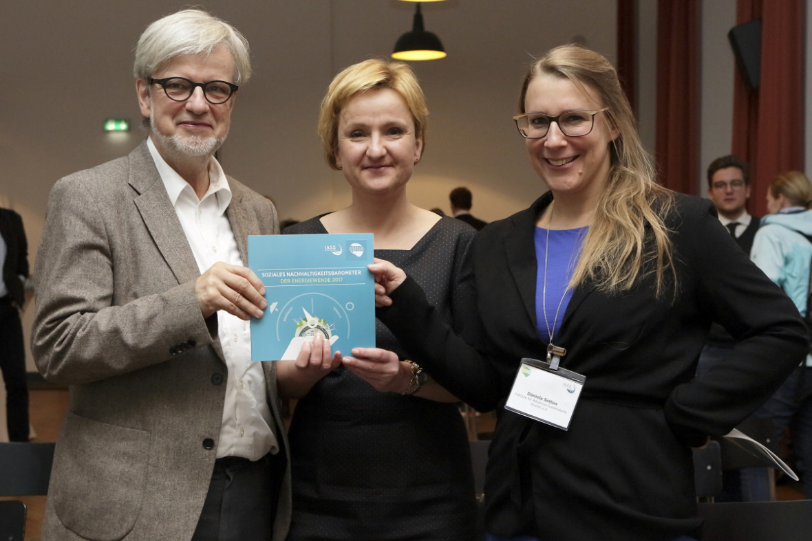 The three authors of the study: Ortwin Renn, Ira Matuschke, and Daniela Setton (all IASS)