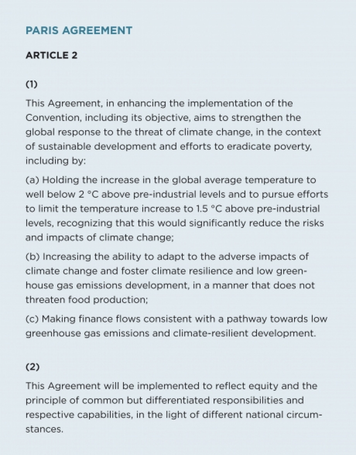 The Paris Agreement And Global Climate Policy  Drupal