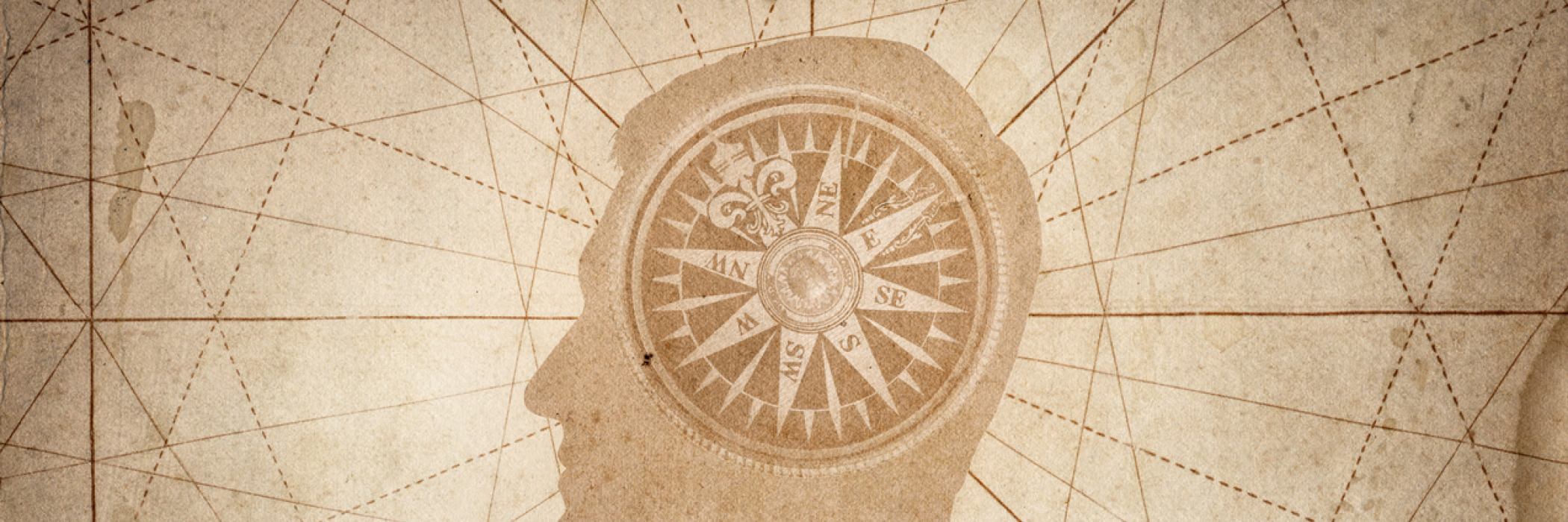Better perception: A human head with compass