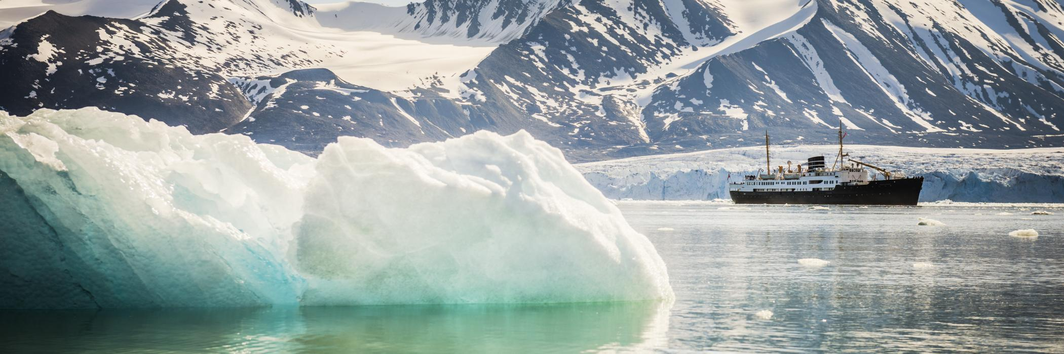 The Arctic Ocean near Spitzbergen, Norway: effective governance mechanisms must be put in place to ensure that the economic development of oceans, coasts, and sensitive regions like the Arctic is sustainable.