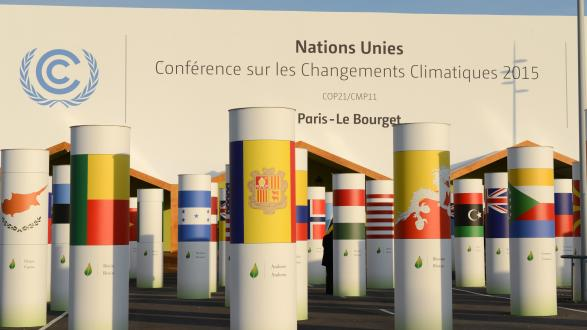 Columns at the COP21 entrance