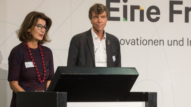 Co-chairs of the Science Platform Sustainability 2030 Patrizia Nanz and Martin Visbeck.