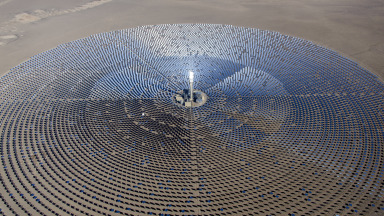 Concentrated solar thermal power uses heat from solar radiation to generate electricity. These systems use an array of reflectors to concentrate a large area of sunlight onto a small surface.