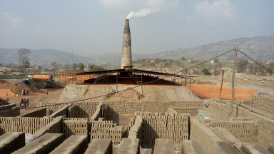 A brick kiln in the Kathmandu Valley. Industrial emissions are on the rise.