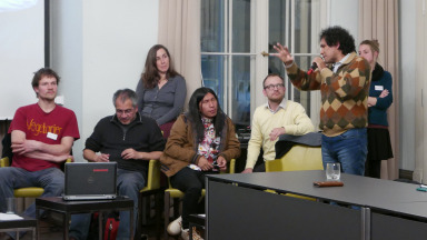 Activists from Germany and South America came together at the IASS to share their experiences campaigning against fossil fuel infrastructure.