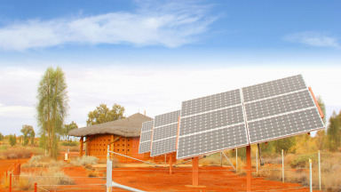 Solar power systems can be used to supply electricity in remote regions in Africa.