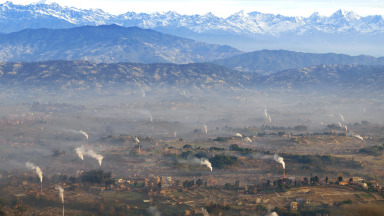 In the Kathmandu Valley, brick factories are a major source of air pollution.