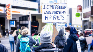 """I can't believe we're marching for facts!"" - Fridays For Future Demonstration in Bonn."