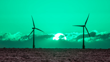 Wind energy and solar energy produce green energy